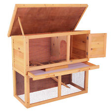 36'' Wooden Chicken Coop Cage Run Yard Waterproof Rabbit Hutch Hen House Animal
