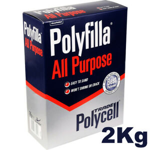 2Kg Polycell Polyfilla All Purpose Powdered Filler - Use Inside / Outside
