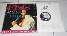 LaserDisc ELVIS PRESLEY Aloha from Hawaii - 30 of Elvis Greatest Hits LD No Dvd