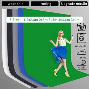 Upgrade Photography Background Cotton Chromakey Screen Muslin Backdrop Studio
