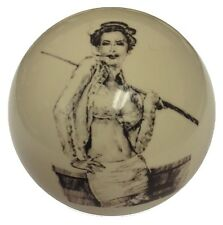Pool/Billiards Pin Up #5 Custom Cue Ball Unique! Great Gift for Players