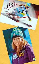 Mikaela shiffrin - 2 top autógrafo-imágenes (3) - Print copies + ski ak firmado