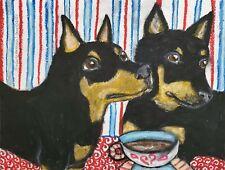 Lancashire Heeler Collectible Dog Art Print 4 x 6 Signed by Artist Ksams Coffee