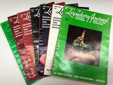 VINTAGE LOT of 7 issues of THE LAPIDARY JOURNAL, 1960s AS IS, Jewelry Making