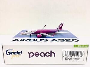 Gemini Jets 1:400 Peach AIRBUS A320 JA824P MM40006 GJAPJ1712