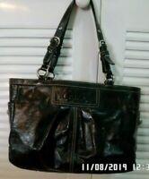 Coach Shiny Black Leather Bag/Shoulder Bag