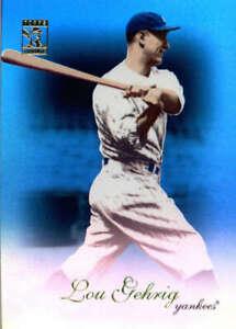 2009 Tribute Blue #83 Lou Gehrig SER #/219 New York Yankees  BX T1G