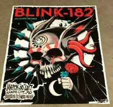 Blink 182 concert band thick canvas vinyl banner skull music poster 2017 cap