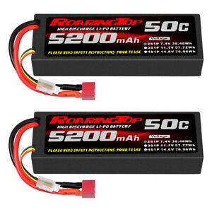 RoaringTop 2x 2S / 7,4V 50C 5200mAh Hard-Box mit T-Stecker