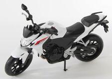 BLITZ VERSAND Honda CB500F weiss-schwarz Welly Motorrad Modell 1:10 NEU & OVP