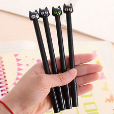 4x 6,1''Black Cat gel PEN kawaii papeterie Creative GisT School Supplies 0.5 mmZ
