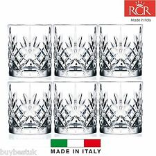 CRISTALLO RCR Melodia WHISKY Occhiali 230ml Whiskey Bicchieri Set di 6 - 25935020006