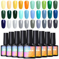 LILYCUTE 8ml UV Pure Tips Gel Polish Long Lasting Soak Off Nail Art Gel Varnish