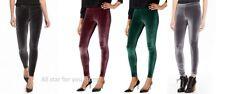 Hue Womens Velvet Leggings Cobblestone/ Black /Sangria /Deep Forest XS, S,M,L,XL