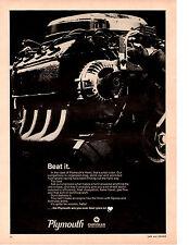 1968 PLYMOUTH HEMI ENGINE  ~  NICE ORIGINAL PRINT AD