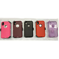 Lot of 5 heavy duty case for iPhone X XR Xmax 7 Plus