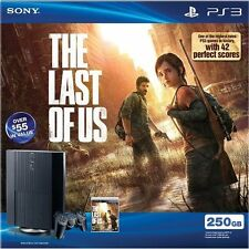 PlayStation 3 PS3 250GB The Last Of US Bundle Very Good 4Z