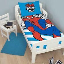 WEBHEAD SPACE SAVER COT//COT BED BUMPER  BEDDING SET 2  DESIGNS SPIDER MAN
