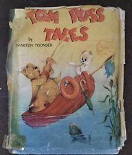 Original Dust Cover, Tom Puss Tales (Marten Toonder) Retro, Children's Book