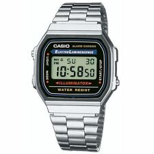 Casio Classic Men's Water Resistant Digital Watch with Illuminator - (A168WA)