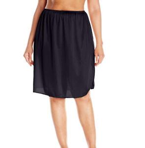 "Vassarette Women's Full Figure Half Slip 11822 Black 2XL 28"" New w/o Tag"