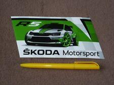 SKODA Fabia R5 - (2018) original Skoda motorsport sticker/Aufkleber