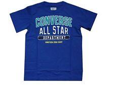 JUINIOR BOYS CONVERSE ALL STARS T SHIRT 863307 AGE 3 TO 7 YEARS - ROYAL BLUE