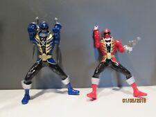 2013 Power Ranger Figures Red & Blue Mega Force Double Battle Action Bandai