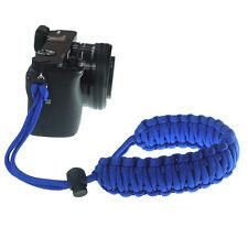 Braided 550 Paracord Adjustable Camera Wrist Strap Bracelet f Nikon Canon (Blue)