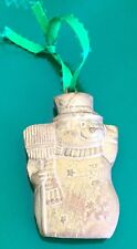 Antiqued Italian Snowman Ornament