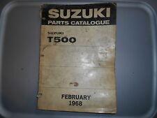 Suzuki OEM 1968 T500 Parts Catalog
