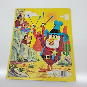 Vintage Tee Pee Toys Jessup Paper Box Cardboard tray Puzzle owl cowboys indians