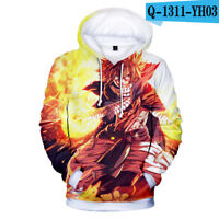 FAIRY TAIL Hoodie Sweatshirt Sweater Natsu Dragneel Cosplay Jacket pullover Coat