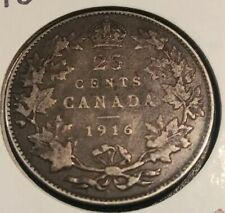 CANADA SILVER COIN 25 CENTS COIN King George V 1916