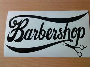 LARGE barber shop scissors window sign hair salon barbers vinyl sticker wall art