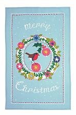 Frosty Garland  Christmas Tea Towel. New. Ulster Weavers. Charity Nat Eczema Soc