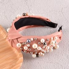 Pink Knotted Solid Color Headband