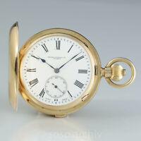 Favre Leuba Anker Chronometer 1895 18k Gold Grande Sonnerie Minuten Repetition