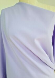Lilac colour crepe medium weight fabric with some stretch 2.8 mt length X 138 cm