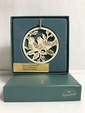 Lenox 12 Days Of Christmas Ornament Two Turtle Doves