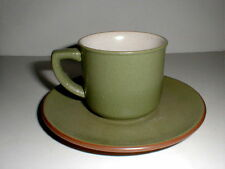 Haruta Empress Stoneware Japan ANTIQUE GREEN Cup Saucer/s