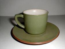 Haruta Empress Stoneware Japan ANTIQUE GREEN Cup Saucer/s
