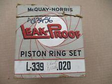 Piston Rings 1942 - 1946 DeSoto Plymouth Dodge Massey-Harris & Wallis Chrysler