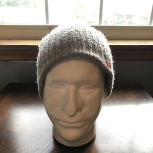 RVCA By PM Tenore Gray Knit Beanie 100% Acrylic