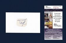 Murray Balfour signed hockey index card - rare -Jsa authenticated