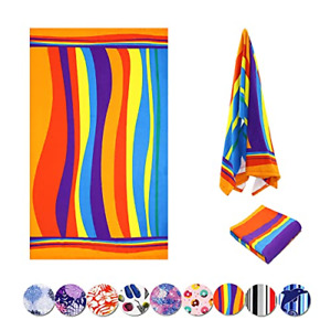 Beach Towel, Microfiber Soft Towel for Adults Kids Extra Large, Absorbent Quick