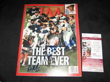 1998 WORLD CHAMPION YANKEES TEAM (5) SIGNED AUTOGRAPHED TIME MAGAZINE JSA RARE!!