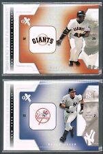 2002 fleer EX Behind the Numbers Barry Bonds #5 Giants