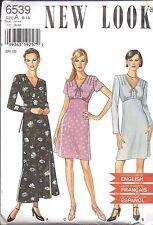 6539 UNCUT Vintage New Look Sewing Pattern Misses Dress 8 - 18 Fall Winter OOP