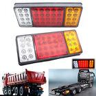 2x Rear Lamps Tail Lights Boat Trailer UTE Camper Truck Van Indicator 36 LED 12V